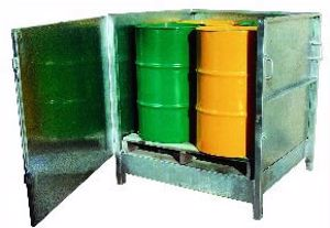 Picture of Drum Spill Containment Stand enclosed (4 Drum)