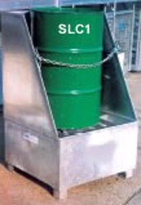 Picture of Drum Spill Containment Stand with back (1 Drum)
