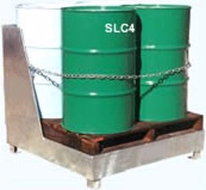Picture of Drum Spill Containment Stand with back (4 Drums)