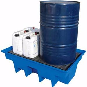 Picture of 2 Drum Bunded Pallet for 2 x 205 Litre