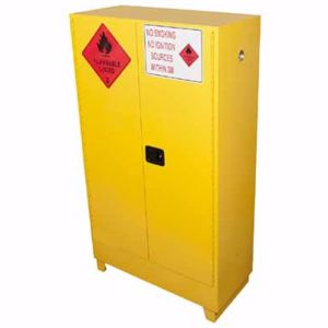 Picture of 250 Litre Flammable Liquid Storage Cabinet 2 Doors and 3 Shelves